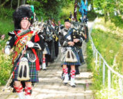 kernow pipes and drums at trebah 2016