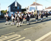 kernow pipes and drums at st columb carnival 2016
