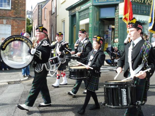 Kernow Pipes & Drums at Mayor's Civic Parade Falmouth 2016
