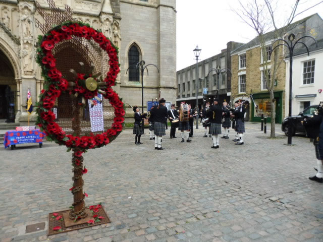 Kernow Pipes & Drums at RBL Poppy Launch 2016 Truro Cathedral