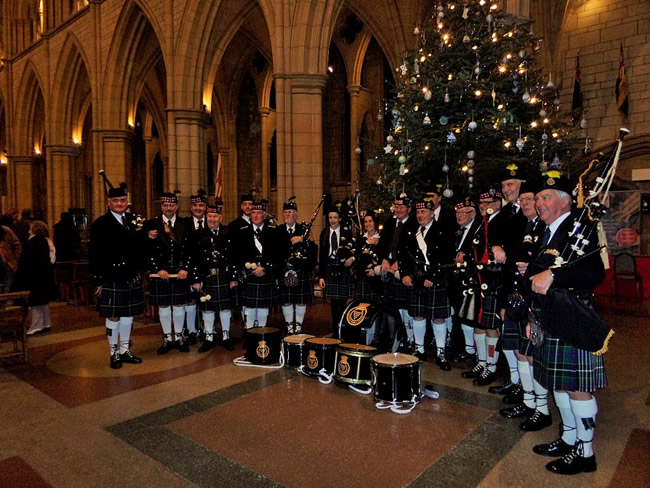kernow pipes and drums at st petrocs service truro cathedral 2015