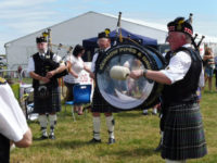Kernow Pipes and Drums at Camborne show 2016