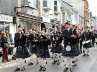 Kernow Pipes & Drums at Trevithick Day 2017