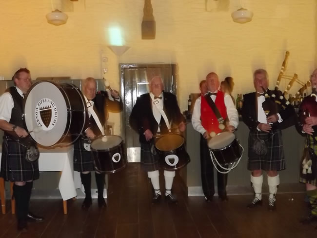 Kernow Pipes and Drums band dinner dance 2014