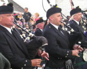 Kernow Pipes and Drums at Wadebridge carnival 2012