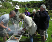 Kernow Pipes and Drums picnic on Carn Marth 2012