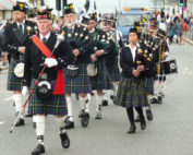 kernow pipes and drums at newquay carnival 2016