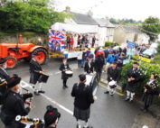 kernow pipes and drums at grampound carnival 2016