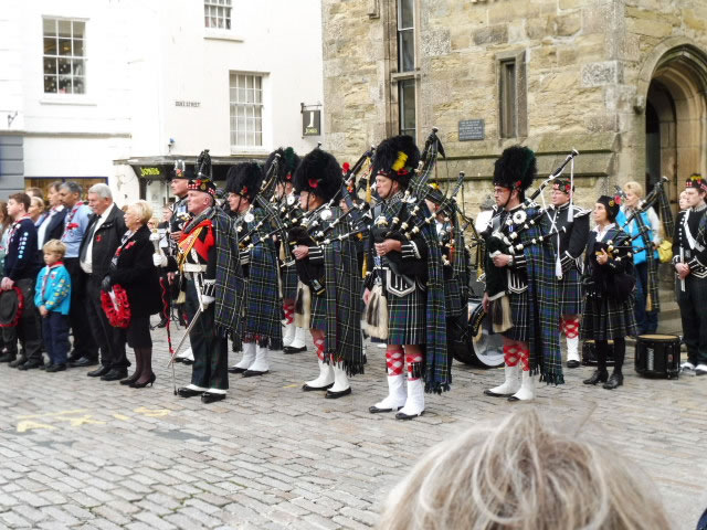 Kernow Pipes & Drums at Remembrance Parade Truro 2016