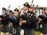 Kernow Pipes & Drums at Camborne Show 2017