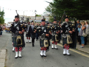 Kernow Pipes & Drums at Charlestown Carnival 2017