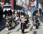Kernow Pipes and Drums at St Nazaire parade 2014