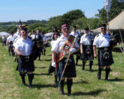Kernow Pipes and Drums at Penhale 2014