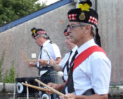 Kernow Pipes and Drums at St Neots carnival 2014