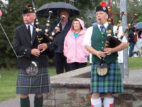 Kernow Pipes and Drums at Wadebridge carnival 2014