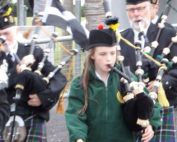 Kernow Pipes and Drums at St Merryn carnival 2014