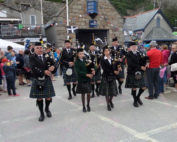 Kernow Pipes and Drums at Newquay lifeboat day 2014