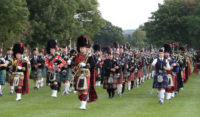 Kernow Pipes and Drums at Bideford 2014