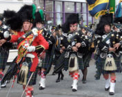Kernow Pipes and Drums at Falmouth civic parade 2014