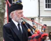 Kernow Pipes and Drums at the Poppy Appeal launch 2014