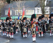 Kernow Pipes and Drums at Falmouth Remembrance parade 2014