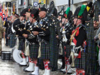 Kernow Pipes and Drums at Truro Remembrance parade 2014