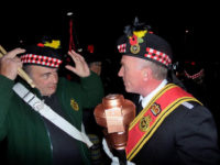 Kernow Pipes and Drums at St Austell carnival 2014