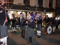 kernow pipes and drums at Truro city of lights 2015