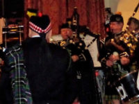 Kernow Pipes and Drums at genesis research trust dinner 2014