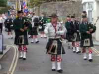 kernow pipes and drums at St Ives 2015