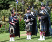Kernow Pipes and Drums at Trebah 2015