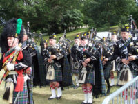 Kernow Pipes and Drums at Torpoint 2015
