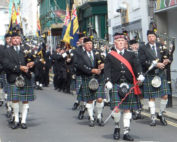 kernow pipes and drums at Falmouth civic parade