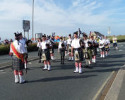 kernow pipes and drums at Newquay carnival 2015