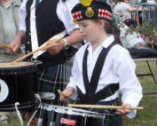 kernow pipes and drums at Camborne show 2015