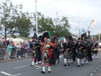 kernow pipes and drums at bideford massed bands 2015