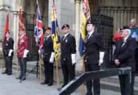 kernow pipes and drums at poppy launch Truro 2015