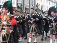 kernow pipes and drums at Truro remembrance parade 2015