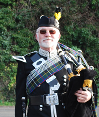 The late Chris Dowrick Kernow Pipes and Drums