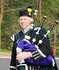 Keith Garner of Kernow Pipes and Drums