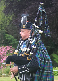 Nigel W Pipe Major of Kernow Pipes and Drums
