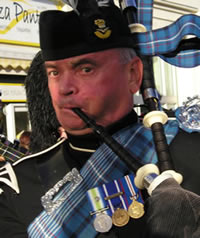Nigel Warmington of Kernow Pipes and Drums, Cornwall