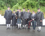 Kernow Pipes & Drums at Polperro 2017