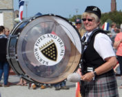 Kernow Pipes and Drums at Armed Forces Day, Pool, 2014