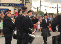 Kernow Pipes & Drums at St Merryn Carnival 2017