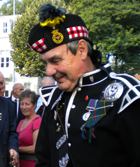 Tom Wheeler, snare drummer with kernow pipes and drums