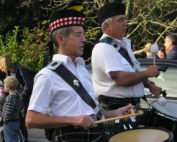Kernow Pipes and Drums at Truro Carnival 2011