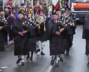 Kernow Pipes & Drums at Wadebridge carnival 2017