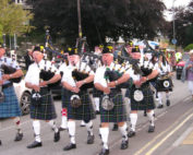 Kernow Pipes and Drums at Wadebridge carnival 2011