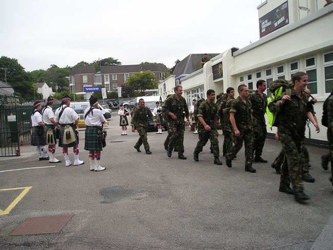 Kernow Pipes and Drums at 6th Rifles Barracks 2011